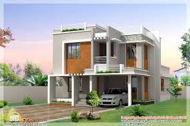 Contemporary Modern House Plans Modern Bedroom Sloping Roof House Sq Ft Sq Feet Flat Roof