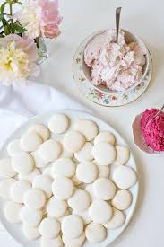 french macarons with strawberry u0026 blackberry fillings a side of