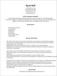 Dental Assistant Resumes Examples by Professional Orthodontic Assistant Resume Templates To Showcase
