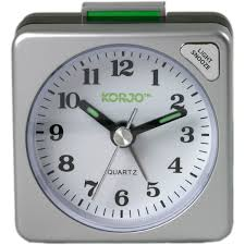 Korjo travel analogue alarm clock