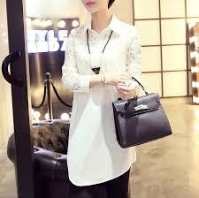 vetement de bureau dentelle chemise pour femmes batas e blusas vetement haut femme