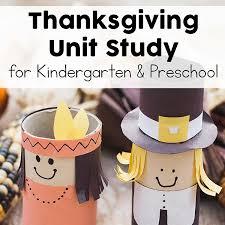 thanksgiving unit study for preschool and kindergarten