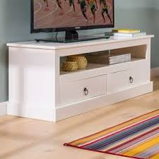 white shabby chic tv unit wooden country cabinet storage furniture