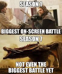 Game 7 Memes - game of thrones memes on twitter season 1 vs season 7