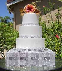 bling cake stand wedding cakes with bling rhinestone diamond mesh 12 square