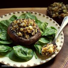 rice stuffed portobello mushrooms connoisseurus veg