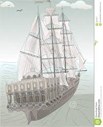 old ship sketch royalty free stock photography image 18413677