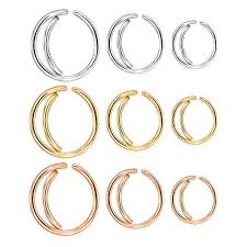 nose jewelry rings images Kangyijia 18g surgical steel moon nose ring hoop nostril rings 8 jpg