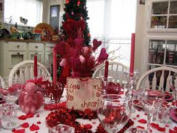 decorations pretty valentine dining table decorations with red
