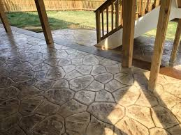 Flagstone Stamped Concrete Pictures by River Rock Stamped Concrete Patio Blackwater Concrete