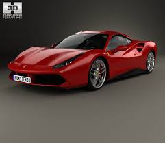 ferrari 488 gtb ferrari 488 gtb with hq interior 2016 3d model hum3d