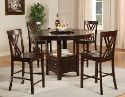 Round Espresso Dining Table Counter Height Round Dining Table Foter