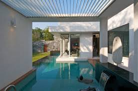 pool water feature dinesh mill bungalow in baroda india by