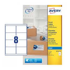 parcel labels j8165 25 avery
