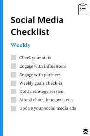 Sales Call Planning Worksheet A Daily Weekly Monthly Social Media Checklist