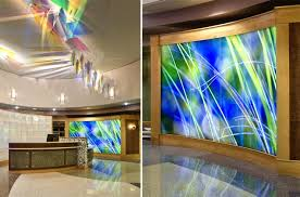 backlit glass panels form a glowing feature wall in lancaster a