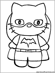 hello kitty coloring pages printable valentine free cartoons