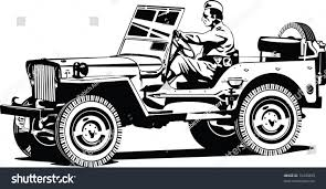jeep vector world war two army allroad vehicle stock vector 73445899