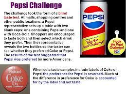 Pepsi Blind Taste Test Updatedl 14 Nov Turned Link Graph Into Vertical Ppt Download