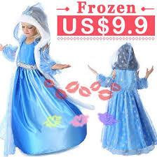 2017 fashion 5 colour frozen children dress elsa anna