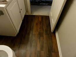 Peel And Stick Laminate Floor Master Bathroom Makeover With Peel And Stick Flooring