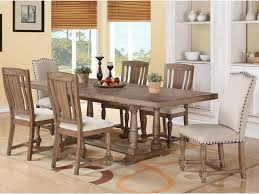 winners only xcalibur 7 piece trestle table and upholstered chair