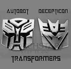 edge glowing led transformers decepticons car emblem