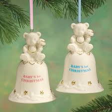 personalized baby u0027s first christmas bell ornament miles kimball