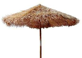 bamboo thatch tiki umbrella for patio bar palapa set choice of 3