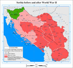 Ww2 Map Serbia Before And After Ww2 The Kingdom Of Yugoslavia In World