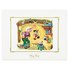 story book deluxe art print pinocchio