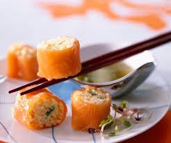 recette de cuisine saumon makis de risotto au saumon recette d apéritif du chef cyril lignac