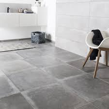 banc beton cire carrelage sol et mur gris cendre effet béton harlem l 60 x l 60 cm