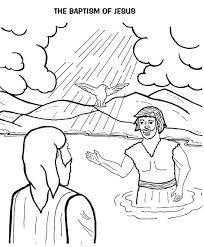 holy spirit jesus head john baptist coloring netart
