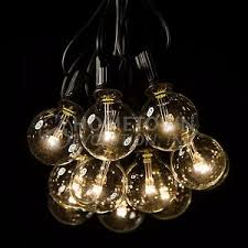 50 foot led warm white globe string lights set of 50 g40 clear