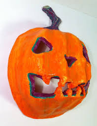 Paper Mache Pumpkin 56 Best Paper Mache Pumpkins Images On Pinterest Paper Mache