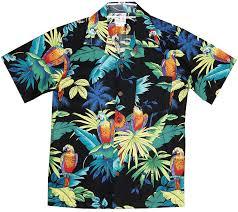 Tropical Themed Clothes - amazon com rjc boys jungle parrot shirt button down shirts clothing