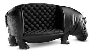 canap originaux canapé hippopotame en cuir noir mimibuzz