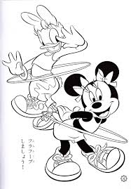 coloring pages of minnie mouse and daisy duck photo of walt disney coloring pages daisy duck minnie mouse for