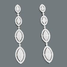 dangle diamond earrings diamond dangle earrings 5 88ct 18k gold jewelry