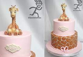 giraffe cake topper baby animals cakes for ones cake magazine