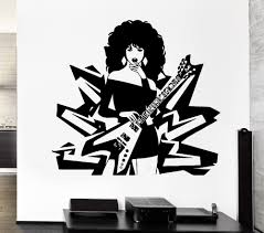 compare prices on mural guitar online shopping buy low price morden fashion vinyl wall sticker music rock pop guitar sexy girl woman lady living room reovable