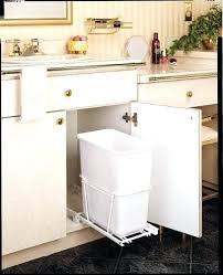 garbage can under the sink under cabinet garbage can pull out garbage can under sink startling