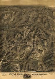 Historic Map Works Cripple Creek Mining District Colorado 1895