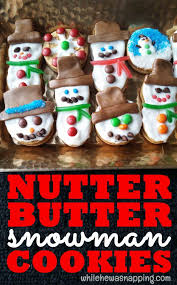 nutter butter snowmen cookies while he was napping