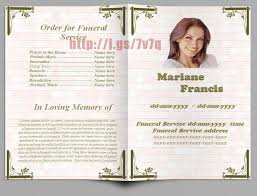 Memorial Pamphlets Samples Funeral Pamphlet Templates Fishing Sports Themed Single Fold