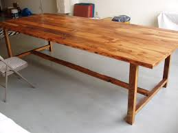 48 by 48 table 10 foot long by 48 inch wide wood dining table custom wood