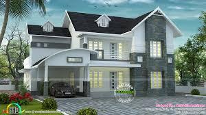 kerala home design villa curved u0026 sloped roof villa kerala home design bloglovin u0027