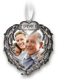 memorial christmas ornaments forever in our hearts christmas ornament silver heart