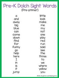 list of preschool sight words precious kinder moments rainbow